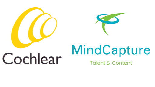 This image has an empty alt attribute; its file name is Cochlear-MindCapture-logos-edited.png